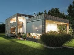 Haus mit Textilscreens