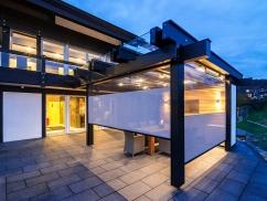 Terrasse mit Textilscreens